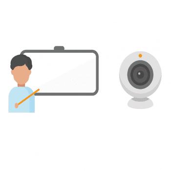 Leerkracht in quarantaine geeft webcam-les aan leerlingen in klas